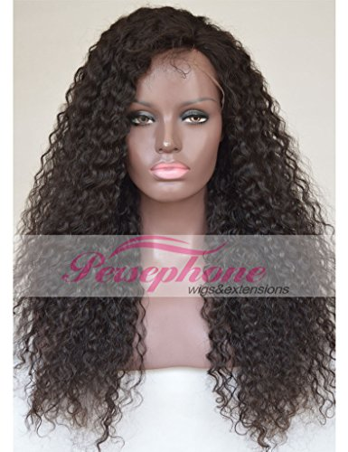 Glueless Brazilian Soft Curly Real Human Hair Front Lace Wigs For Black Women Best Remy Hair Replacement Full Wig With Baby Hair 150 Density 14 inches Natural Color