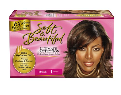 Soft Beautiful No-Lye Creme Relaxer System Ultimate Protection Super