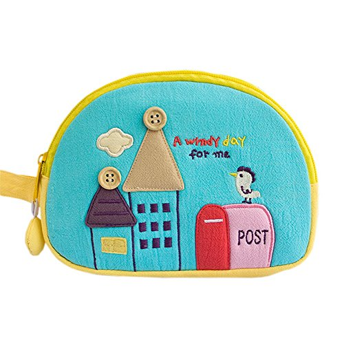 A Windy Day Embroidered Applique Cosmetic Bag  Camera bag  Hand Purse Wallet 715128