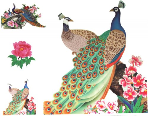 Look like real waterproof non toxic big size large dimension 21CM X 23CM temporary tattoo beatiful peacocks temporary tattoo sticker for womens half back