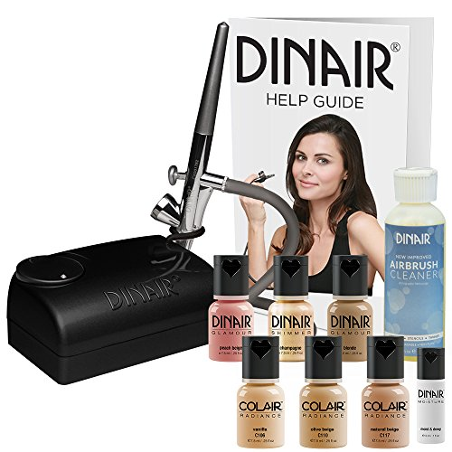 The Original Dinair Airbrush Makeup Starter Kit  Fair Shades  Foundation Set