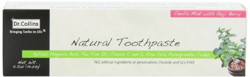 Dr Collins Natural Toothpaste Vanilla Mint with Goji Berry 42 Ounce