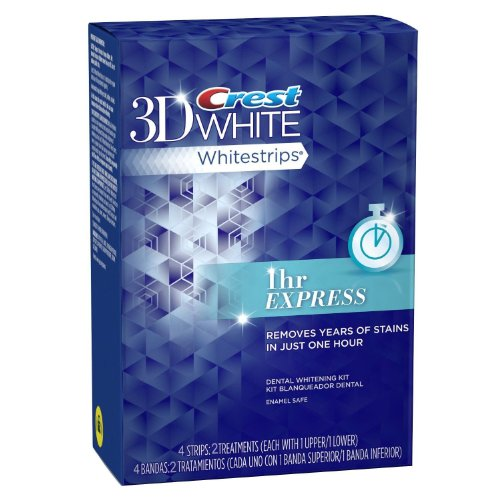 Crest 3d White 1-Hour Express Teeth Whitening Strips 2 Count 2 treatment