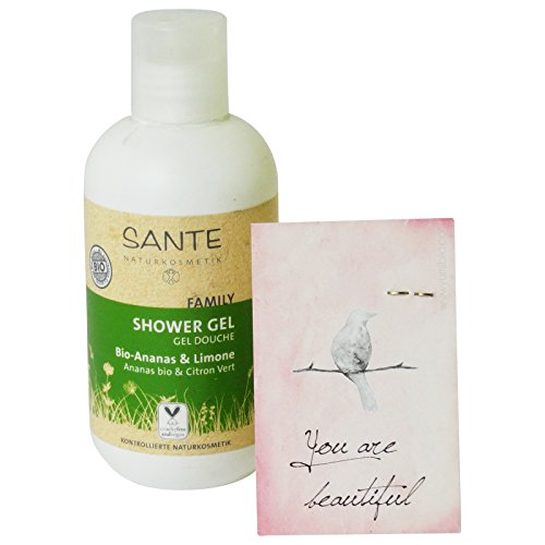 SANTE - Organic Pineapple Lemon Shower Gel - VEGAN Gluten Free -