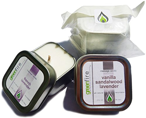 Greenfire All Natural Massage Candles, French Lavender