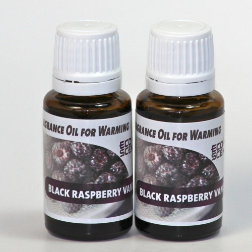 2-Pack Black Raspberry Vanilla Fragrance Oil for Warming from EcoScents 15 mL Highly concentrated for intense fragrance ready to use - no wax or water carrier needed