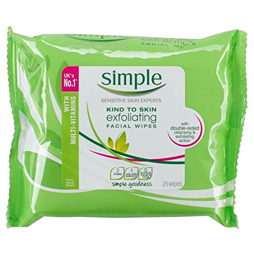 Simple Kind to Skin Exfoliating Wipes 25 - Pack of 6