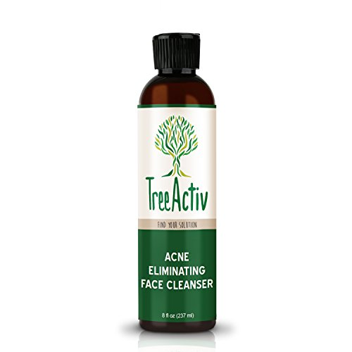 TreeActiv Acne Eliminating Face Cleanser  Natural Facial Treatment Cleansing Skin Wash  Castile Soap  Sulfur  Charcoal  Vitamin C  Peppermint  Men Women Teens  Sensitive  Unscented  8 fl oz