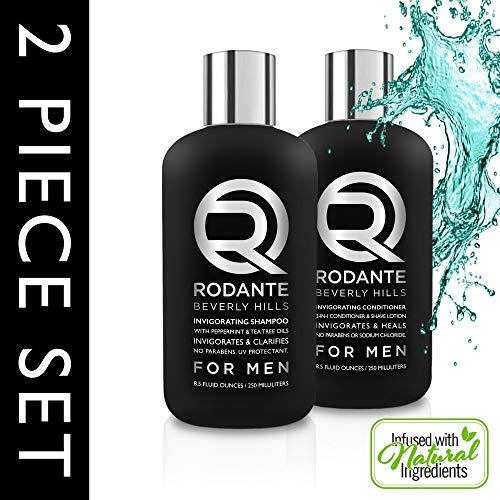 Tea Tree Oil Shampoo for Men  Mint Conditioner  Dandruff Shampoo for Men  Shampoo and Conditioner Set  Color Treated Hair Shampoo  Made in USA