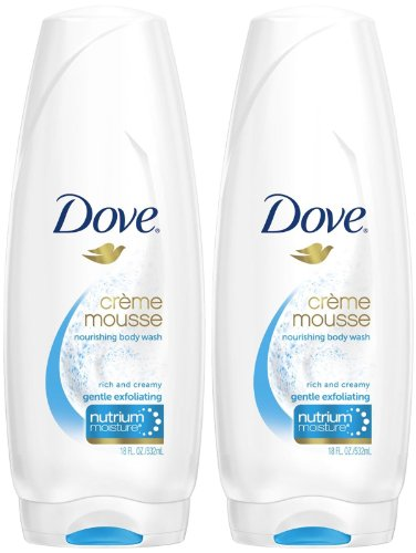 Dove Visible Care Creme Mousse Body Wash - Gentle Exfoliating - 18 oz - 2 pk