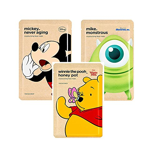 The Face Shop 3 Assorted Disney Collaboration Mickey-Never Aging Moisturizing Mask25g