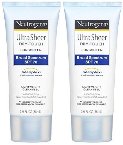 Neutrogena Ultra Sheer Broad Spectrum Sunscreen SPF 70 - 3 oz - 2 pk
