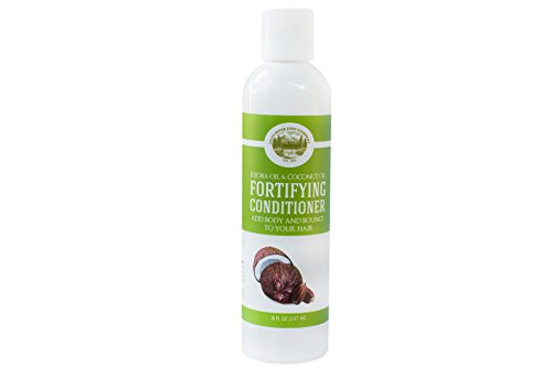Fortifying Conditioner - Jojoba Oil and Coconut Oil - 8 Oz - Sulfate Free - Best Treatment for Damaged Dry Hair - Made with All Natural Organic Ingredients - For All Hair Types