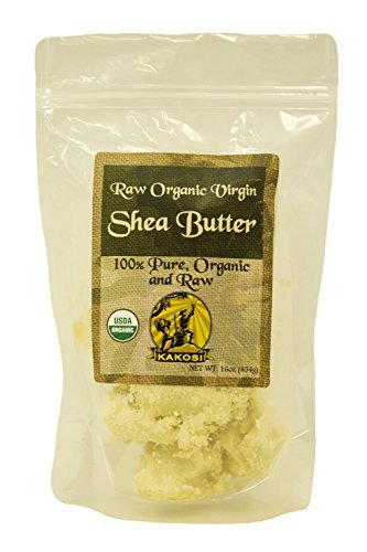 KAKOSI 100 Pure Organic Raw Virgin Shea Butter 16oz1 Pound by KAKOSI