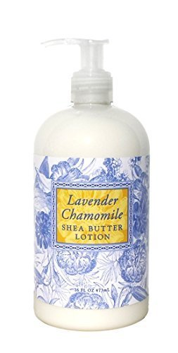 Greenwich Bay Lavender Chamomile Hand Body Lotion with Cocoa Butter and Shea Butter Lotion for Dry Skin Normal Skin Sensitive Skin-Lavender Chamomile Essential Oils-All Natural No Parabens American Made-16 Oz
