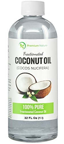 Fractionated Coconut Oil 32 oz Skin Moisturizer Natural Carrier Oil Therapeutic Odorless By Premium Nature