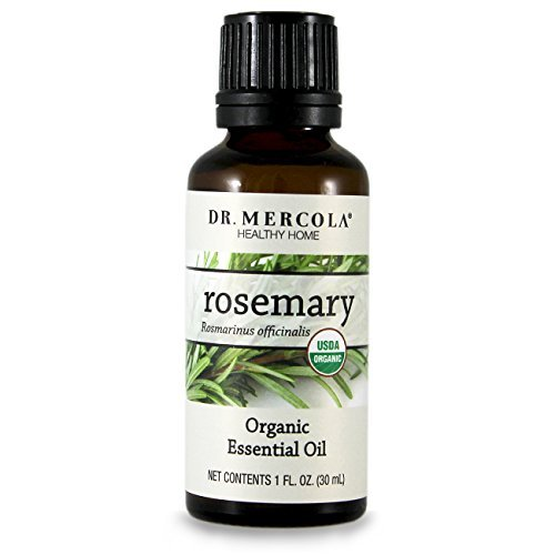 Dr Mercola Organic Rosemary Essential Oil -Organic Essential Oils For Aromatherapy - Use Orally Topically Or In Essential Oil Diffuser-Spray In Garden To Repel Insects¬Add As Seasoning -1 Oz Bottle