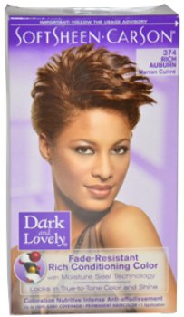 Women Dark and Lovely Fade Resistant Rich Conditioning Color  374 Rich Auburn Hair Color 1 pcs sku 1792197MA