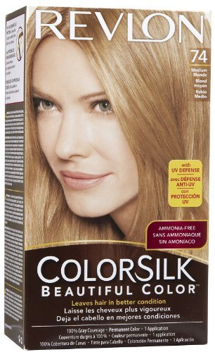 Revlon Colorsilk Beautiful Haircolor Ammonia-free Permanent Haircolor Pack of 4 74 Medium Blonde