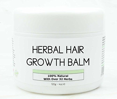 Hair Growth Herbal Organic Balm 100 Natural Promotes Growth Intense Treatment for Natural Relaxed Chemically Treated Afro African American With Shea Butter Coconut Oil Argan Jamaican Castor Oil