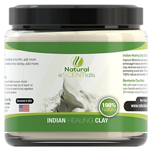 Calcium Bentonite Clay Powder - Deep Cellular Healing - Detox Cleanse Restore - FREE Mask and Body Wrap Recipes Included