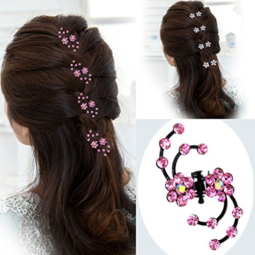 Cuhairtm 10pcs Wedding Rhinestone Crystal Women Girl Hair Clip Pin Claw Barrettes Accessories