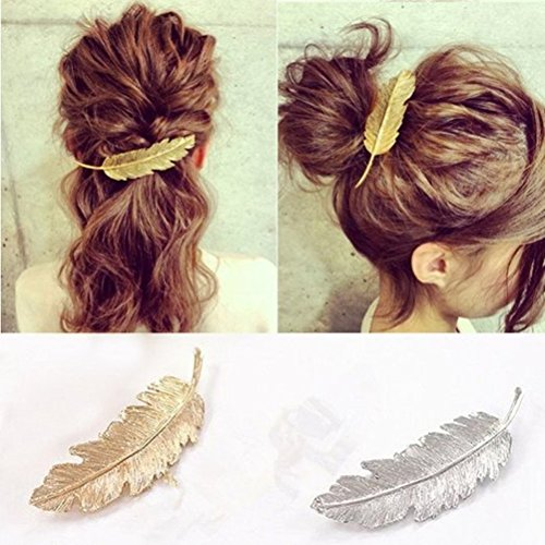 Miayon 2pcs Leaf Design Punk Women Girl Hair Clip Pin Claw Barrettes Accessories