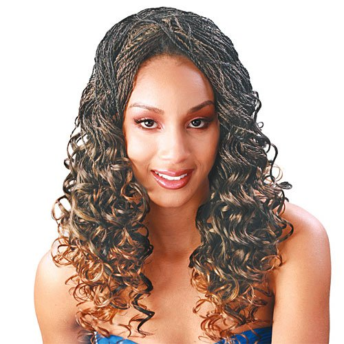 Synthetic Hair Weave Janet Collection French Deep 16 1B