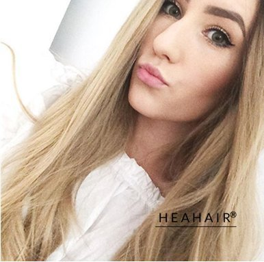 Heahair Natural Straight Ombre Color Dark Root Light Brown Long Synthetic Lace Front Wigs for Holloween