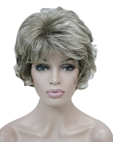 Kalyss Womens wigs Short curly Syntheitc Mix Blonde Hair Wig
