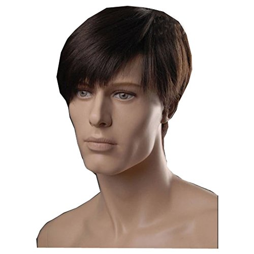 KOLIGHT European USA Best Hot Men Wigs Brown Wigs Short Men Hair Wig Shops Synthetic Fiber Hair Wigs