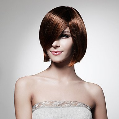 QINF Capless Short Bob High Quality Synthetic Black Straight Hair Wig