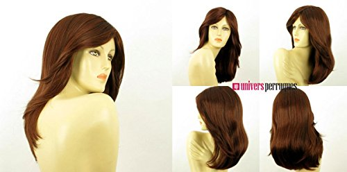 univers perruque Mid Length Wig For Women Dark Brown Copper Intense Ref Zelinda 322