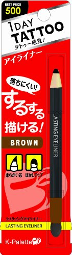 K-Palette 1 Day Tattoo Lasting Eyeliner 03 Brown Pencil Type