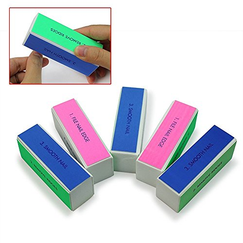 Hosaire Nail Art Shiner Buffer 5 Pcs 4 Ways Polish Sanding File Block Manicure Product