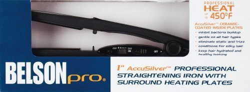 Belson Pro 1 AccuSilver Professional Straightening Iron by Belson