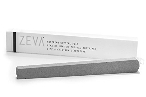 Zeva Austrian Crystal Nail File - Stops Splitting Peeling and Cracking and Removes Excess Cuticle Made in the USA