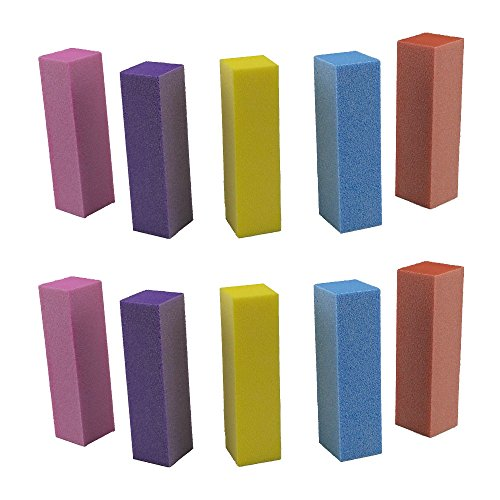 yueton Pack of 10 Buffing Sanding Buffer Block Files Pedicure Manicure Nail Art Tips Tool