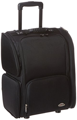 Craft Accents Soft-Sided Professional Rolling Makeup Case All Black 176 Ounce