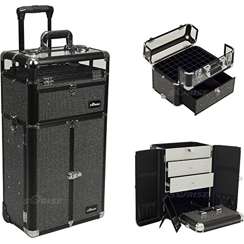 SUNRISE Professional Rolling Makeup Case in Black Krystal-I31066