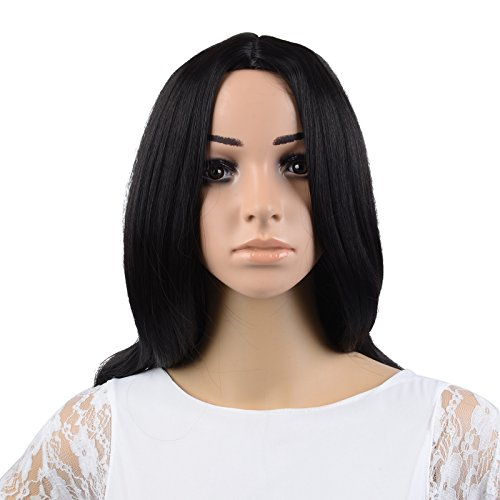 Kamo 22 Inch Black Charming Long Wavy Hair Wig  Wig Cap