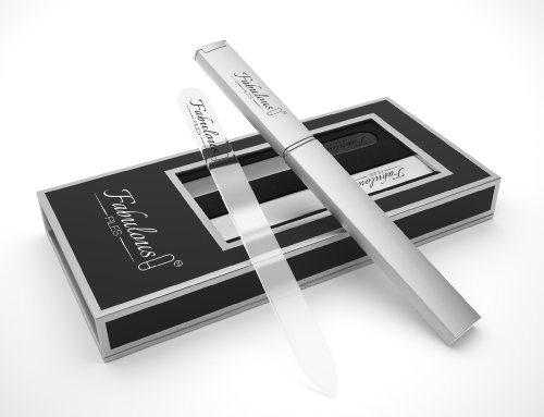 Glass Nail File Set - Crystal Nail File With Case -