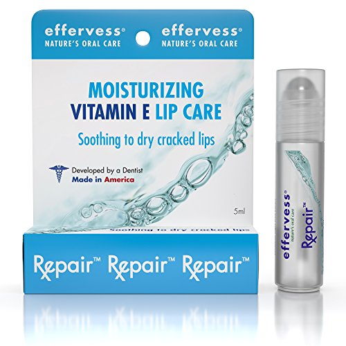 1 Best Vitamin E Lip Balm - Lip Moisturizer - Beautiful Rollerball Application - Soothes Hydrates Dry Cracked Lips - Helps Repair Heal Damaged Skin - Made in the USA - Satisfaction Guaranteed - 5ml