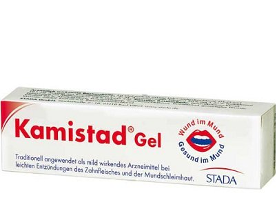 3 X 10g Kamistad Gel N  Treatment of Painful and Inflammatory Processes of the Gums the Oral Mucous Membrane Mouth and Lips