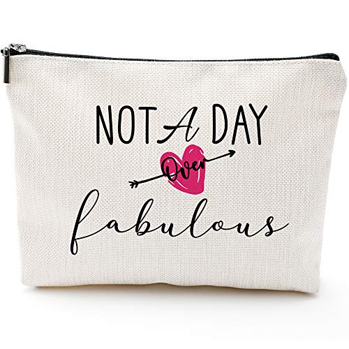 Fun Birthday Gifts for Women-Not a Day Over Fabulous-Makeup Travel Case Makeup Bag GiftsBride GiftsWedding Gift Bags