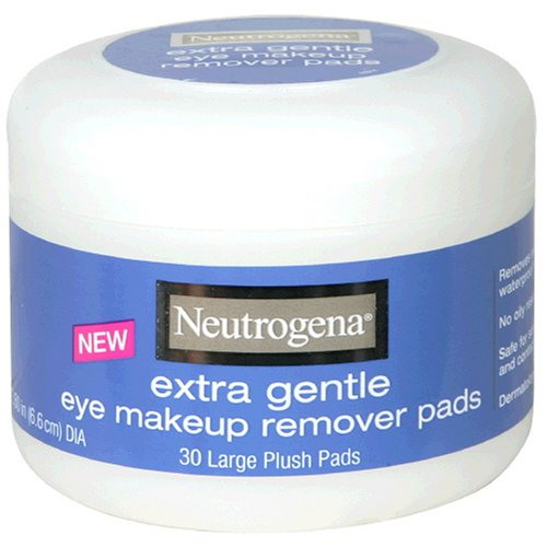 Neutrogena Eye Makeup Remover Large Plush Pads Extra Gentle 30 Count