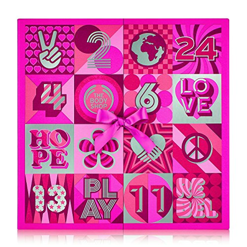 The Body Shop Deluxe Advent Calendar 24pc Gift Set of Feel-Good Cruelty-Free 100 Vegetarian Skincare Body Care and Makeup Treats
