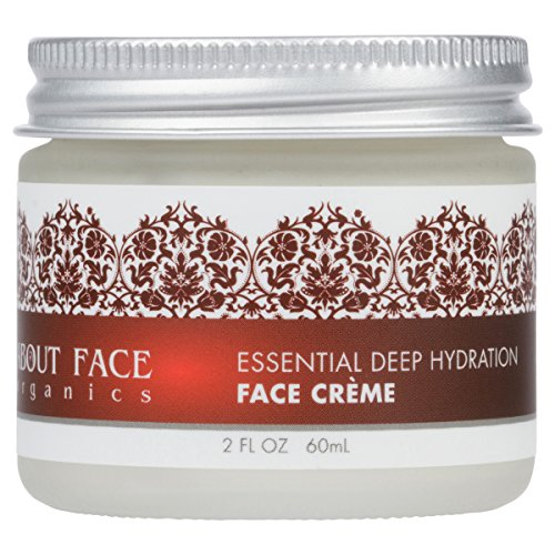 About Face Organics Deep Hydration Face Cream with DMAE Hyaluronic Acid MSM Vitamin E  76 Organic  Paraben Cruelty Free  2 Oz