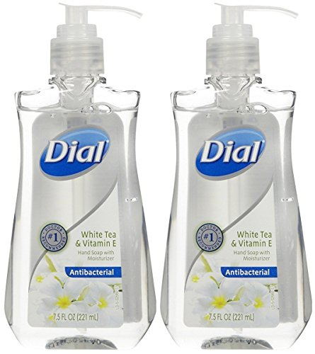 Dial White Tea Vitamin E Antibacterial Handsoap with Moisturizer 2 pack