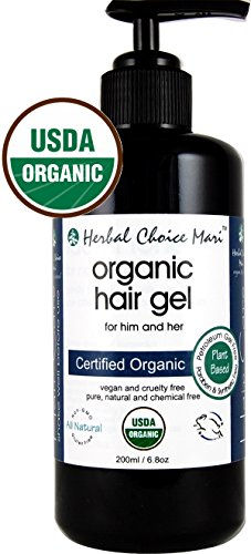 Herbal Choice Mari Organic Hair Gel 200ml/ 6.8oz Glass